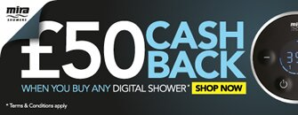 Get £50 cashback when you buy a complete Mira digital shower