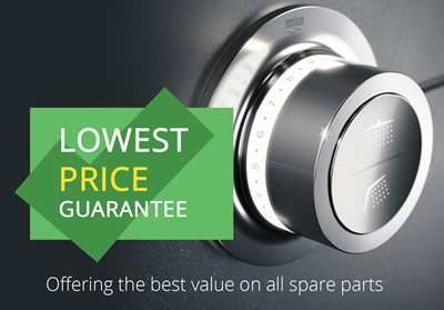 Lowest Price Guarantee on all shower spare parts and accessories