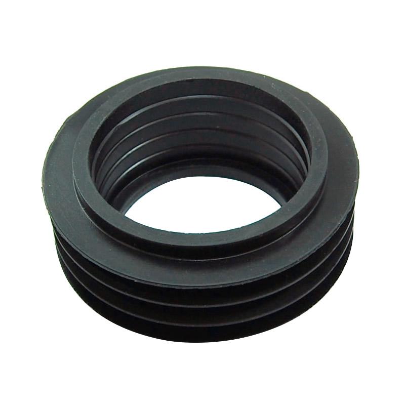 Geberit flush pipe seal - black fin 45mm