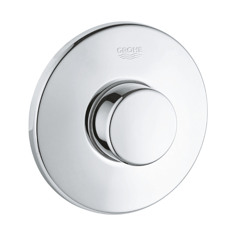push button toilet cistern parts. Grohe Air single flush push button  chrome 37060 000 main image 1