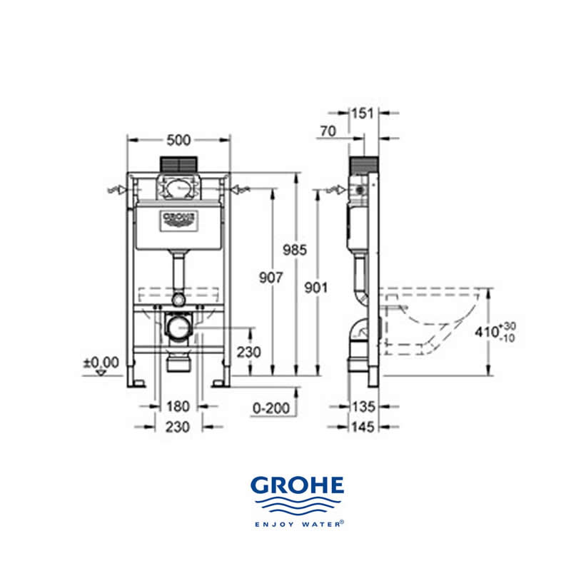 grohe rapid sl wc 6 9l cistern 38525 grohe 38525 001 national shower spares. Black Bedroom Furniture Sets. Home Design Ideas