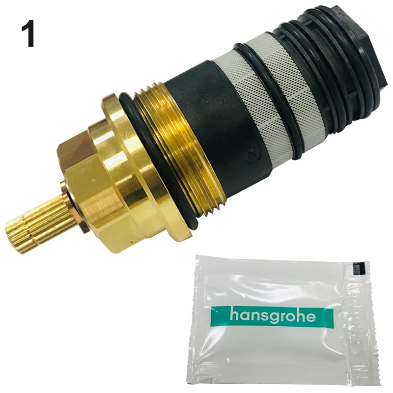 hansgrohe axor thermostatic cartridge assembly hansgrohe 94282000 national shower spares. Black Bedroom Furniture Sets. Home Design Ideas