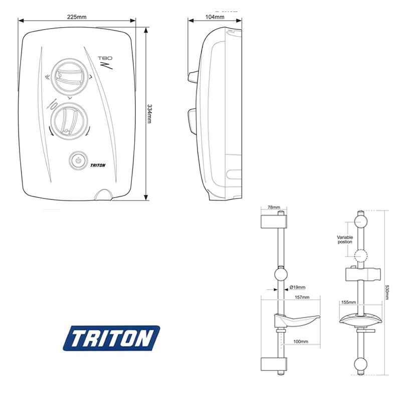 triton t80z fast-fit - white  chrome