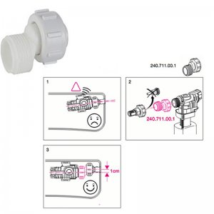 Geberit Type 380 fill valve offset adapter (240.711.00.1) - main image 1
