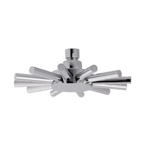 MX Star single spray swivel overhead shower head - chrome (HEL) - main image 1