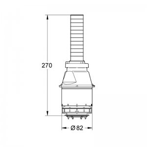 Grohe DAL single flush valve assembly (42137 000) - main image 2