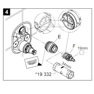 Grohe aquadimmer/flow cartridge assembly (47364 000) - main image 3