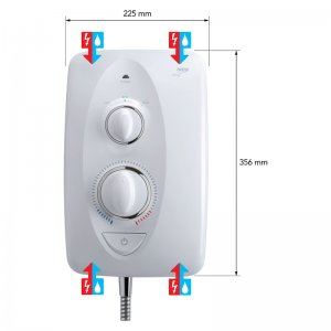 Mira Jump MK2 Multi-Fit Electric Shower 8.5kW - White/Chrome (1.1788.010) - main image 4