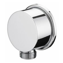 "Bristan cylindrical 1/2"" wall outlet assembly - chrome (WO4 C)"