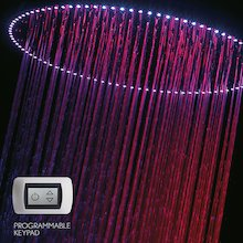 Crosswater Rio Spectrum shower head with lights and ceiling arm (FHX740C)