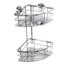 Croydex Charlwood Flexi-Fix two tier corner basket (QM813841)