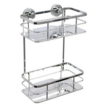 Croydex Charlwood Flexi-Fix two tier cosmetic basket (QM810541)