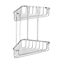 Croydex rust free two tier medium corner basket - mild steel (QM260241)