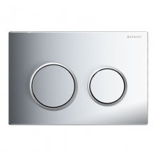 Geberit Omega20 dual flush plate - bright chrome (115.085.KH.1)