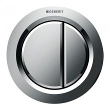Geberit pneumatic dual flush button - gloss chrome (116.050.21.1)