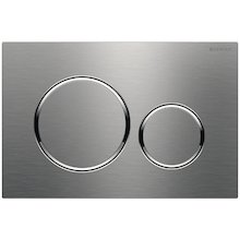 Geberit Sigma20 dual flush plate - stainless steel (115.882.SN.1)