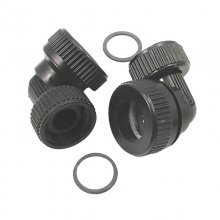 Aqualisa Inlet elbow assembly - Black (Pair) (022501)