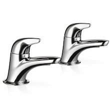 Mira Comfort basin pillar taps (2.1818.002)