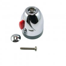 Mira Coda temperature control knob - chrome (1630.045)