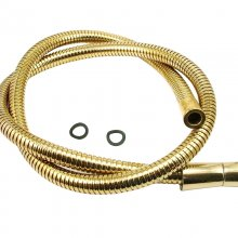 Mira Logic shower hose 1.25m - Gold (450.18)