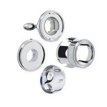 Mira temperature knob/flow lever - chrome (451.63)