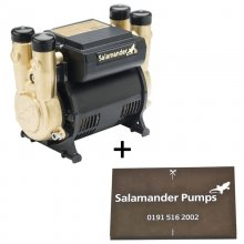 Salamander CT Force 15PT 1.5 bar twin impeller positive shower pump - plus free pump mat (CT15PT + Mat)