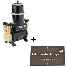 Salamander CT Force 20TU 2.0 bar twin impeller universal shower pump - plus free pump mat - (CT20TU+ Mat)