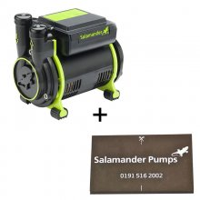 Salamander CT55 Xtra 1.5 bar single impeller positive shower pump - plus free pump mat (CT55 Xtra + Mat)