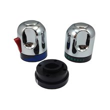 Triton flow control and temperature knobs - chrome (83308440)