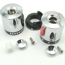 Triton flow/temperature control knob set - chrome (83308550)