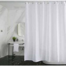 Uniblade 1800mm x 2000mm shower curtain - white (SKU2)