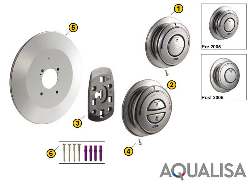 Aqualisa Quartz Digital Concealed 2001 Current Shower