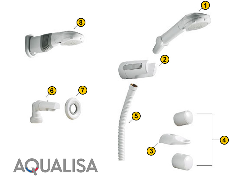 Aqualisa Shower Head Systems (1990-1996) shower spares and parts ...
