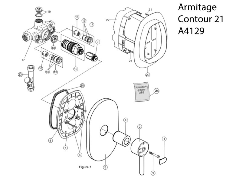 Armitage Contour 21 Thermostatic Shower Valve Shower Spares And Parts