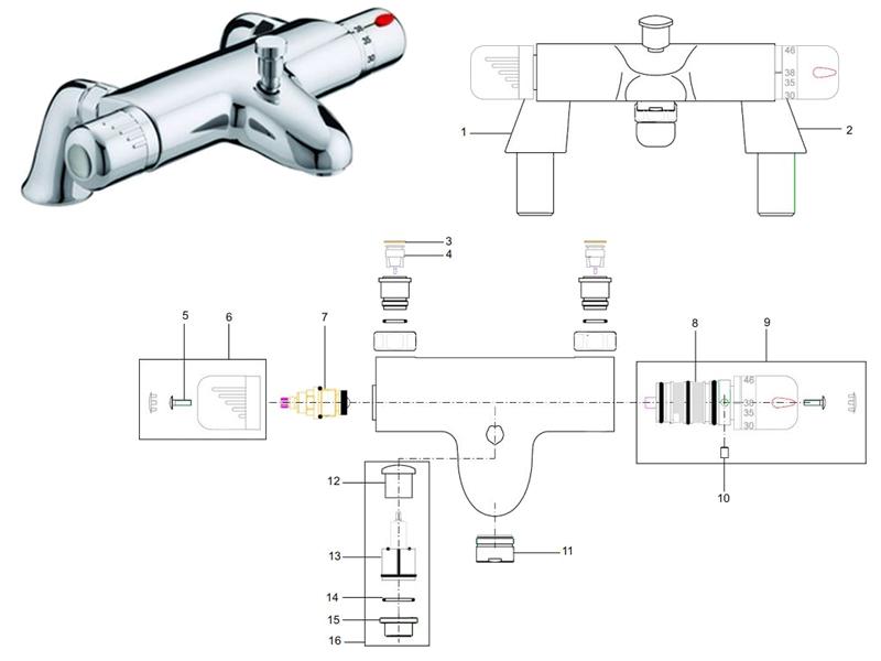 bristan artisan pillar bath shower mixer shower spares and