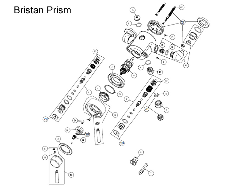 Bristan Prism Exposed Thermostatic Shower