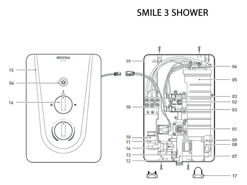 Bristan Smile Mk3 Electric Shower Shower Spares And Parts