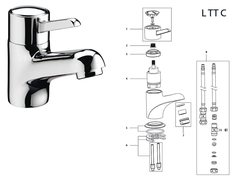 Bristan Tempo Lever Mixer Tap Shower Spares And Parts