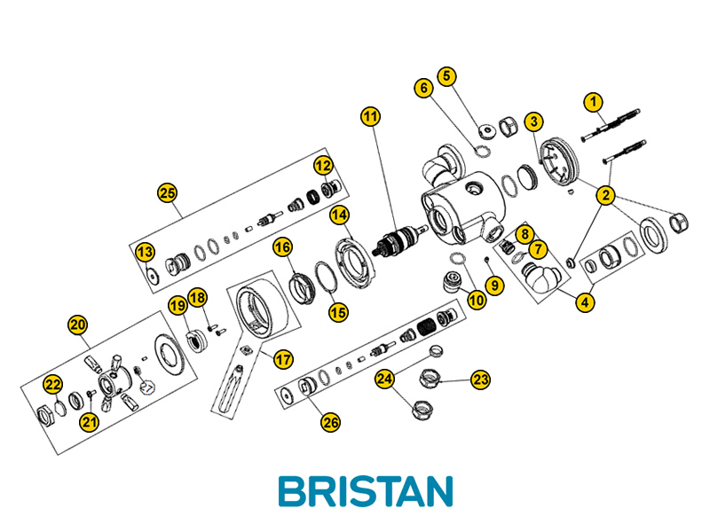 bristan art deco exposed shower spares and parts bristan art deco national shower spares delta shower valve diagram shower valve parts diagram