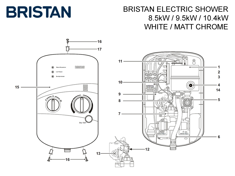 Bristan Electric Shower Shower Spares And Parts