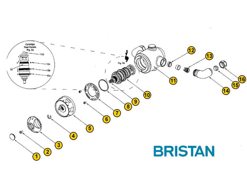 Bristan Jive Cascade Shower Spares And Parts Bristan