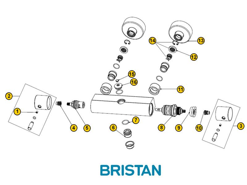 Bristan Prism Bar Shower Spares And Parts Bristan Prism