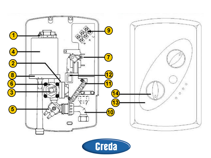 Shower Spares For Creda 950dl