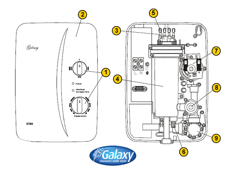 Shower Spares For Galaxy G7000 Galaxy G7000 National