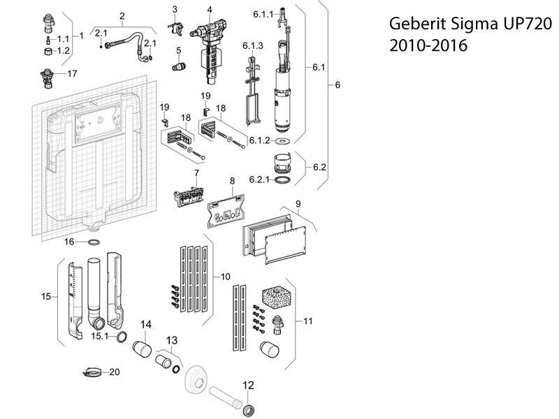 Geberit Sigma Up720 2010 2016 Toilet Spares And Parts