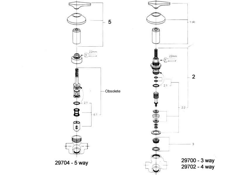shower spares for grohe 29700 - 29702