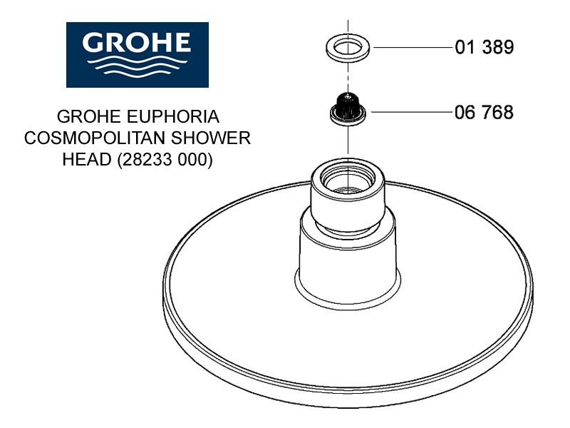 shower spares for grohe euphoria cosmopolitan shower head chrome grohe 28233 000 national. Black Bedroom Furniture Sets. Home Design Ideas