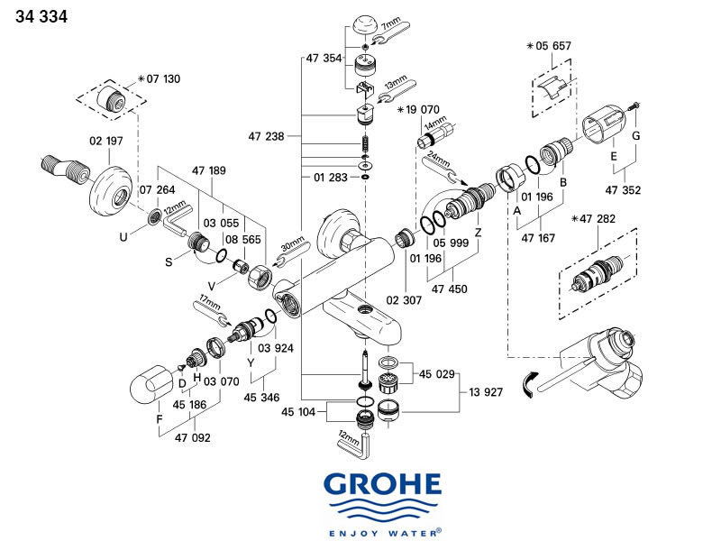 Mixet Shower Cartridge Replacement besides Grohe grohtherm 1000 34161 000 34161 000 moreover Symmons Shower Valve Parts Diagram additionally Grohe avensys manual 33399 ip0 33399 ip0 likewise Mixer Tap Parts Diagram. on hansgrohe shower valve repair