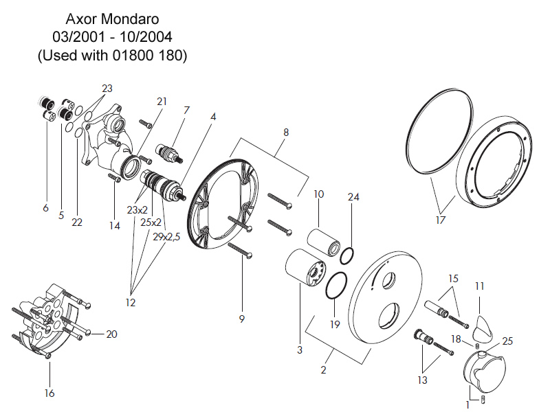 Hansgrohe Axor Mondaro Shower Valve Spares And Parts