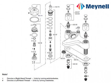 Meynell Bonus Bath Shower Mixer Mk2 Shower Spares And